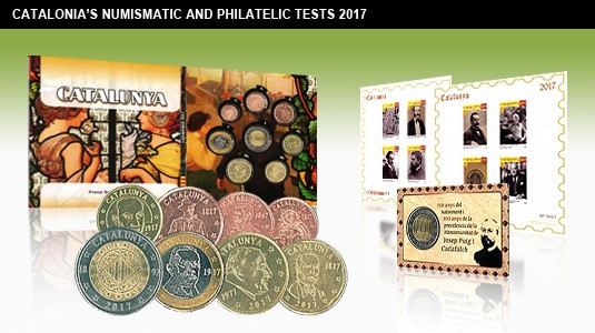 coins and stamps catalonia 2017